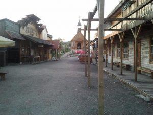 Malá část westernového městečka