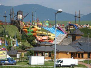 Pohled na jedny z mnoha atrakcí v Tatralandii